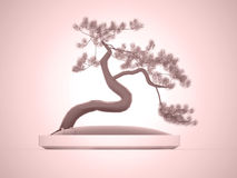 Bonsai tree rendered Stock Images