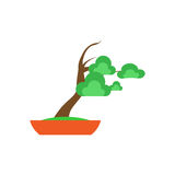 Bonsai Tree on white background ,Vector Royalty Free Stock Image