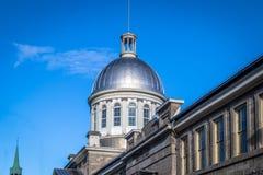 Bonsecours市场圆顶在老蒙特利尔-蒙特利尔,魁北克,加拿大 图库摄影