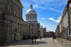 Bonsecours market in Montreal Canada. MONTREAL, CANADA - April 23, 2017:  built in 1844, Marche Bonsecours in Old port in Montreal, Quebec and was for more than Stock Photo