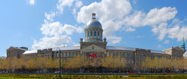 Bonsecours Market panorama, Montreal Stock Image