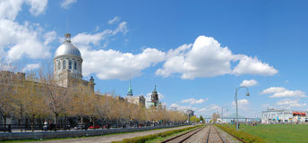 Bonsecours Market panorama, Montreal Royalty Free Stock Photo