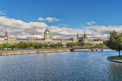 Bonsecours Market and pond Stock Photos