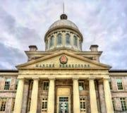 Bonsecours marknad i gamla Montreal, Kanada Byggt i 1860 Fotografering för Bildbyråer