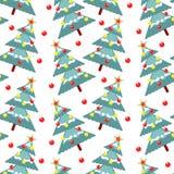Bont-bomen naadloos patroon Royalty-vrije Stock Fotografie