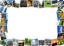 Bont die beelden op de perimeter van beeld worden geïsoleerd stock fotografie