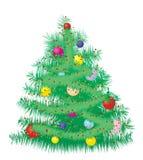 Bont Kerstboom Royalty-vrije Stock Fotografie
