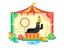 Bontverbinding in een circus vector illustratie