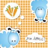 Bonu appettit warzywa Obrazy Stock