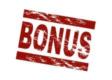 Bonus. Stylized red stamp showing the term bonus. All on white background vector illustration