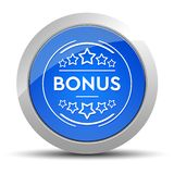 Bonus badge icon blue round button illustration stock illustration