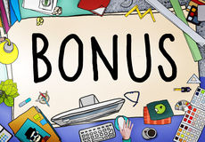 Bonus Benefit Income Incentive Profit Concept Royalty Free Stock Photography