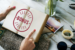 Bonus Benefit Reward Incentive Money Graphic Concept Royalty Free Stock Photography