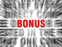 Bonus. Blurred text with focus on vector illustration