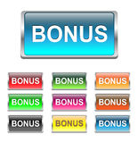 Bonus buttons, icons set, vector Stock Image