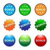 Bonus buttons. Illustration of colorful bonus buttons stock illustration