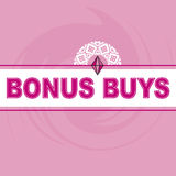 Bonus Buys Logo Pink Background Royalty Free Stock Photography