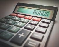 Bonus Calculator Stock Image