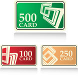 Bonus cards Royalty Free Stock Photos