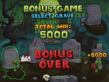 Bonus game for zombie slots game Stock Image