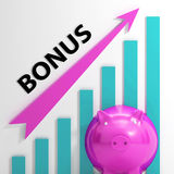 Bonus Graph Shows Incentives Rewards Royalty Free Stock Images