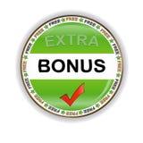 Bonus icon. Green bonus symbol located on a white background royalty free illustration