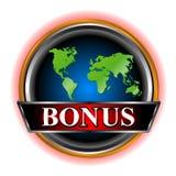 Bonus icon. Unique bonus symbol located on a white background vector illustration
