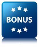 Bonus icon blue square button Royalty Free Stock Photo