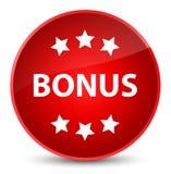 Bonus icon elegant red round button Stock Images