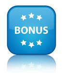Bonus icon special cyan blue square button Stock Photography