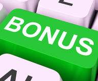 Bonus Key Shows Extra Gift Or Gratuity Online Stock Photography