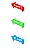 Bonus label arrow royalty free stock photos