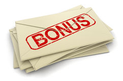 Bonus letters  (clipping path included) Stock Images