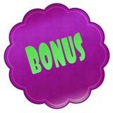 BONUS op magenta sticker royalty-vrije illustratie