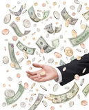 Bonus Pay Money Handout Executive Royalty Free Stock Photos