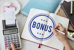 Bonus Prize Profit Incentive Additional Compensation Concept royalty free stock image