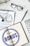 Bonus Prize Profit Incentive Additional Compensation Concept. Bonus Prize Incentive Compensation Concept Royalty Free Stock Images