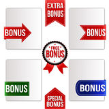 Bonus ribbons set Royalty Free Stock Photography