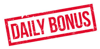 Daily Bonus rubber stamp Stock Photos
