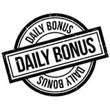 Daily Bonus rubber stamp Stock Images