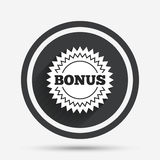 Bonus sign icon. Special offer star symbol. Royalty Free Stock Photos