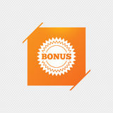 Bonus sign icon. Special offer star symbol. Royalty Free Stock Photo