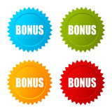 Bonus star vector icon Royalty Free Stock Image
