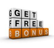 Bonus symbol Royalty Free Stock Images