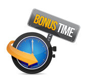 Bonus time watch illustration design. Over a white background Royalty Free Stock Photos
