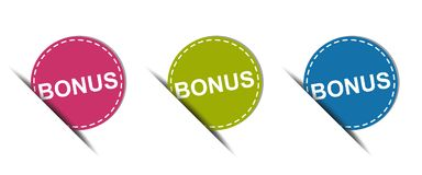 Bonus Web Button - Colorful Vector Icons - Isolated On White. Background Vector Illustration