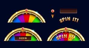 Bonus wheel of luck elements Stock Photography