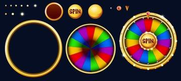 Bonus wheel of luck. Vector illustration royalty free illustration