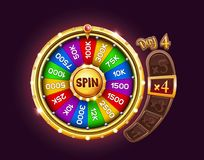 Bonus wheel of luck vector illustration