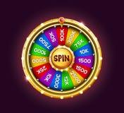 Bonus wheel of luck royalty free illustration